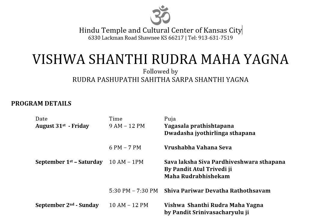 Vishwa Shanthi Rudra Maha Yagna