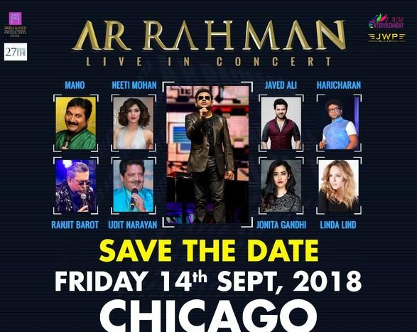 A R Rahman LIVE in CHICAGO - Celebrating 25 years of glorious music