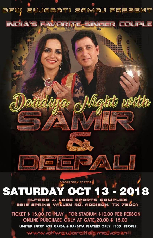 Garba and Dandia with Samir & Dipalee