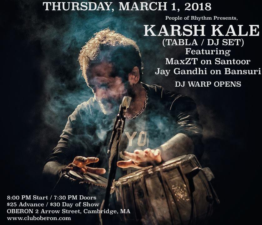 Karsh Kale (Tabla/DJ Set) in Boston/Cambridge