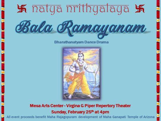 Bala Ramayanam | Bharathanatyam dance drama program