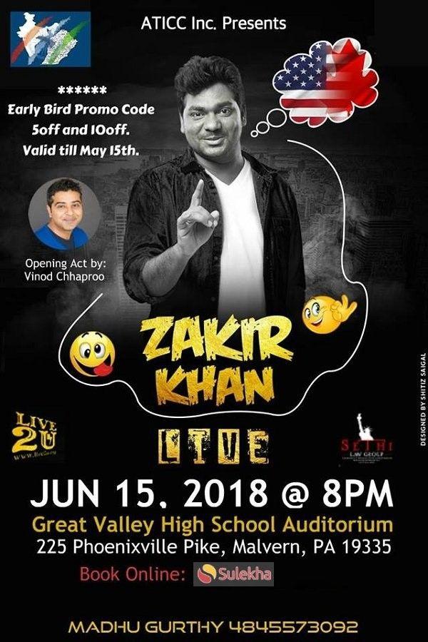 Stand up Comedian ZAKIR KHAN Live