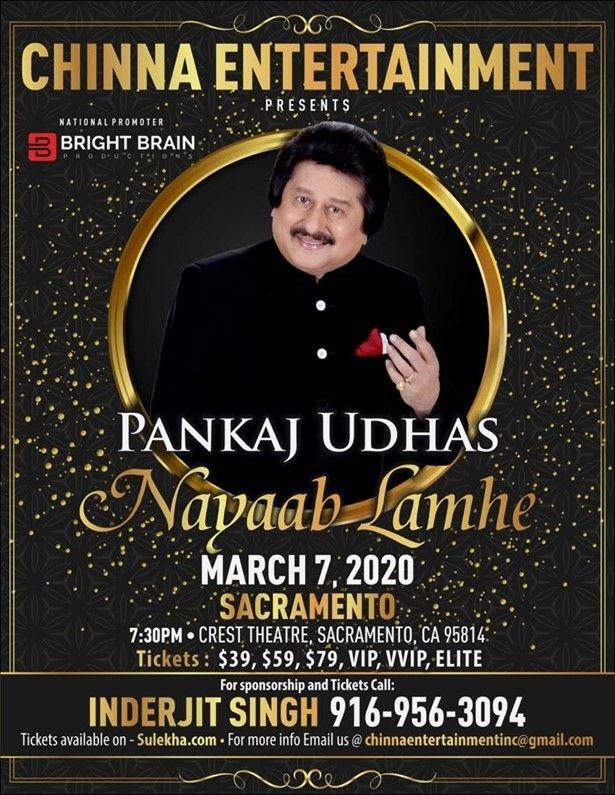 Padmashri Pankaj Udhas Live in Concert - Sacramento