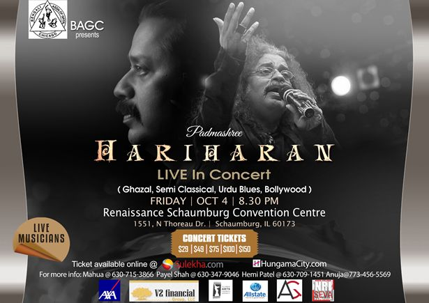 Hariharan Live In Concert in Chicago