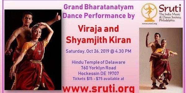 Grand Bharatanatyam Dance by Viraja and Shyamjith Kiran