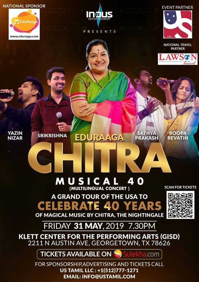Chitra 40 Live Musical concert - Tamil, Malayalam and Telugu