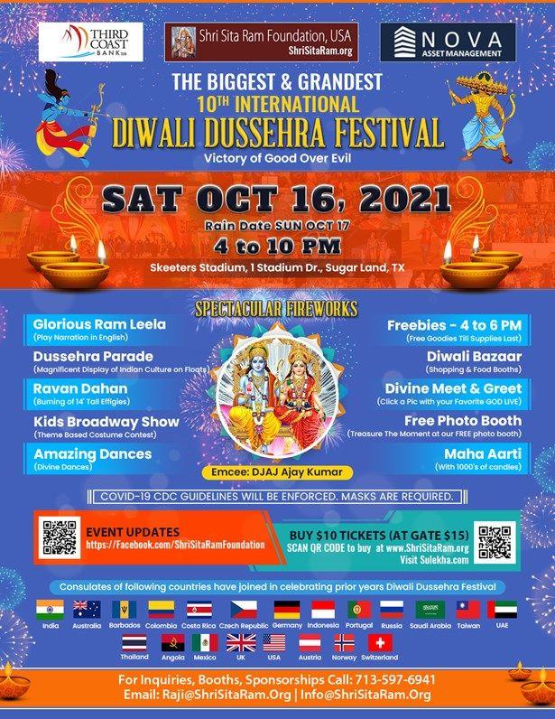 The Biggest & Grandest 10 International Diwali Dussehra Festival