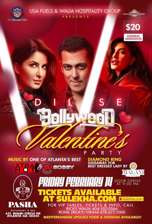Dil Se Bollywood Valentines Party