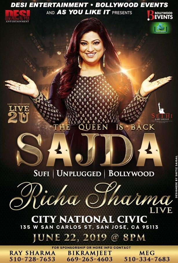 Richa Sharma Live In concert - Bay area
