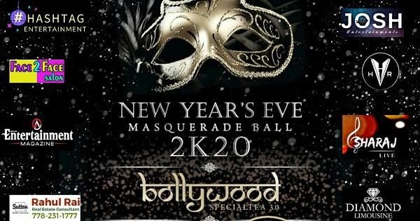 New Year's Eve Bollywood Masquerade Party 2020