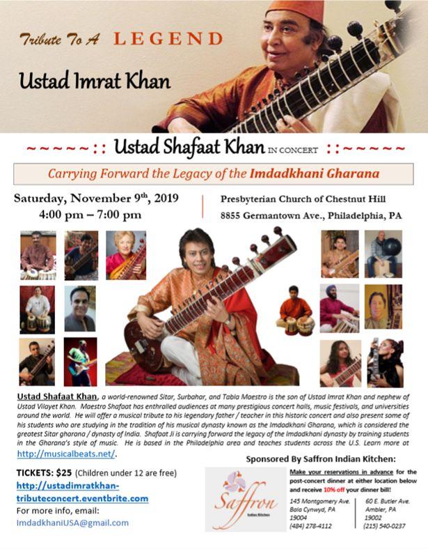 Tribute to Ustad Imrat Khan