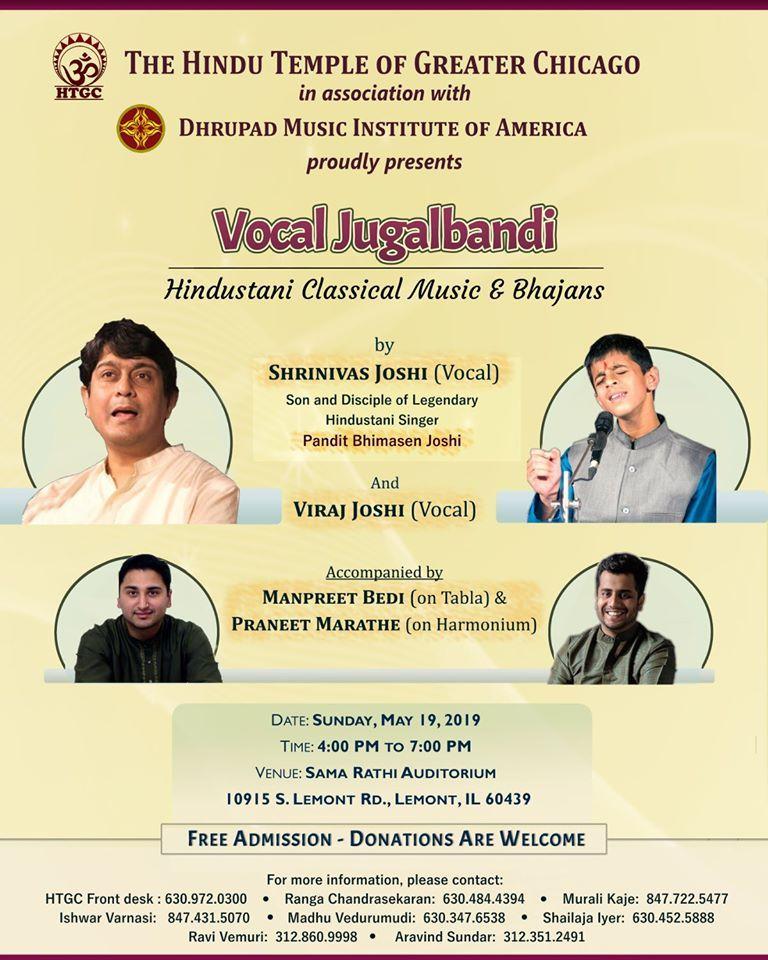 Vocal Jugalbandi (Hindustani Classical & Bhajans)