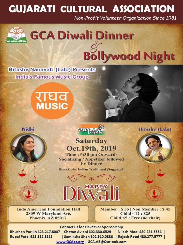 GCA Diwali Dinner & Bollywood Night
