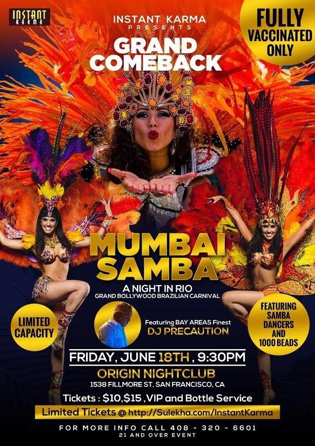 Mumbai Samba: A Bollywood Masquerade Party 2021