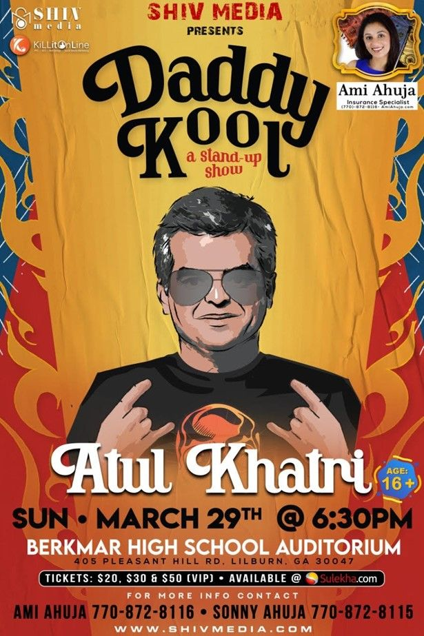 Event Postponed - Atul Khatri Stand-Up Comedy Live in Atlanta