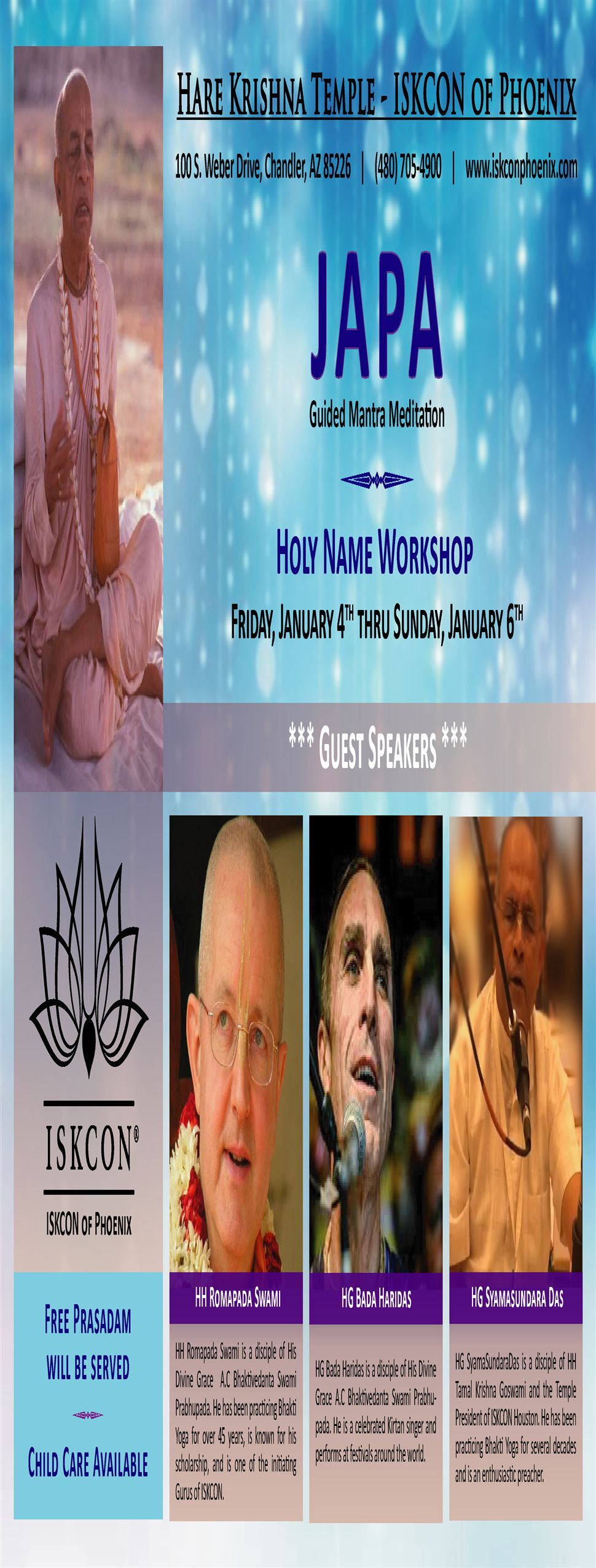Holy Name Workshop/ Japa Retreat by ISKCON of Phoenix