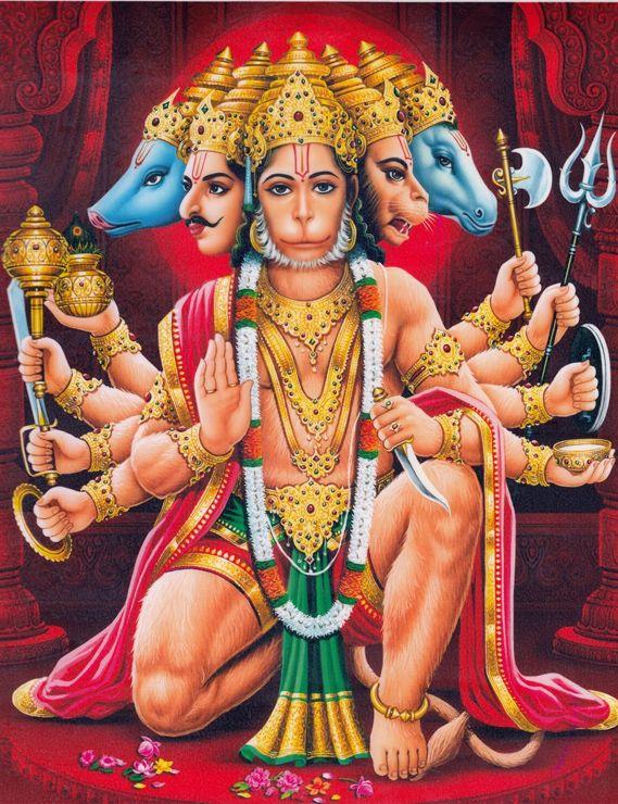 Pancha Muka Hannuman Abishekam