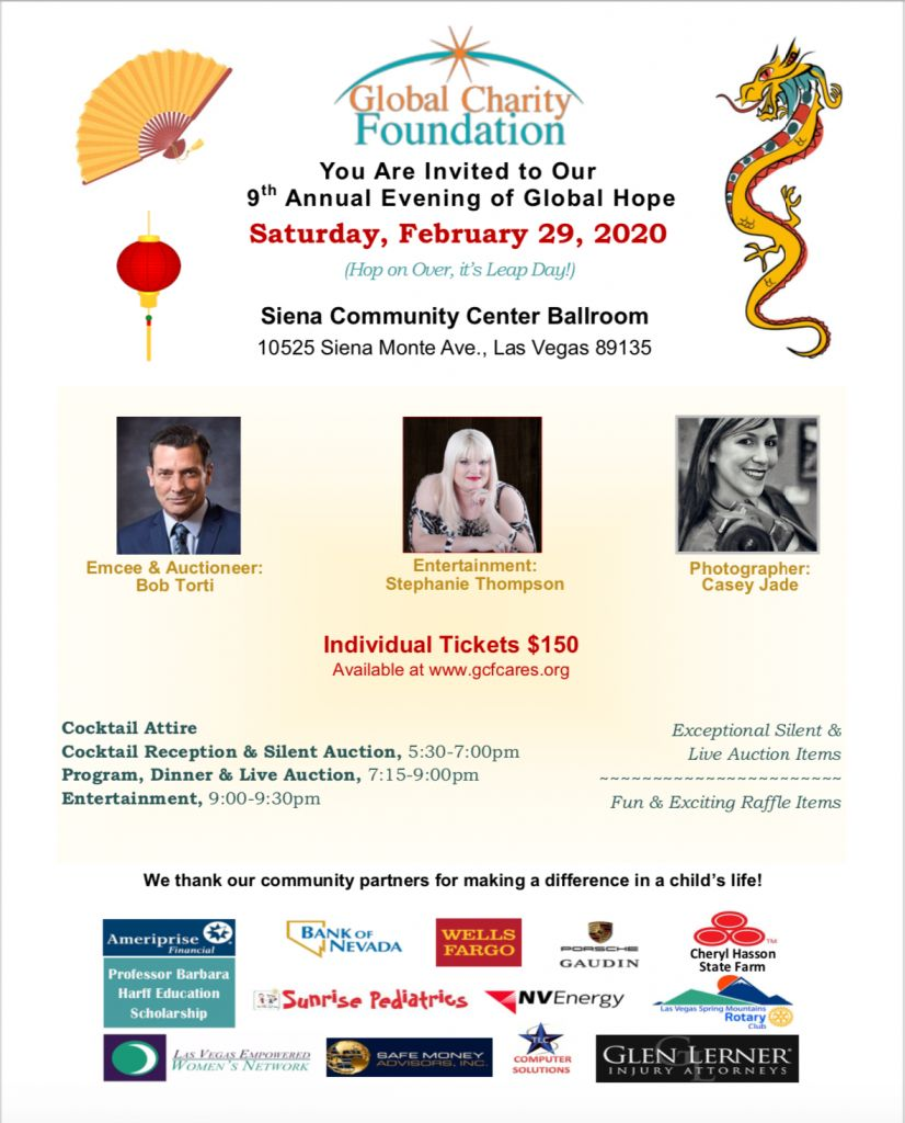 GLOBAL CHARITY FOUNDATION ANNUAL BANQUET