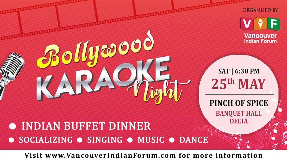 Bollywood Karaoke Night with Indian Buffet Dinner