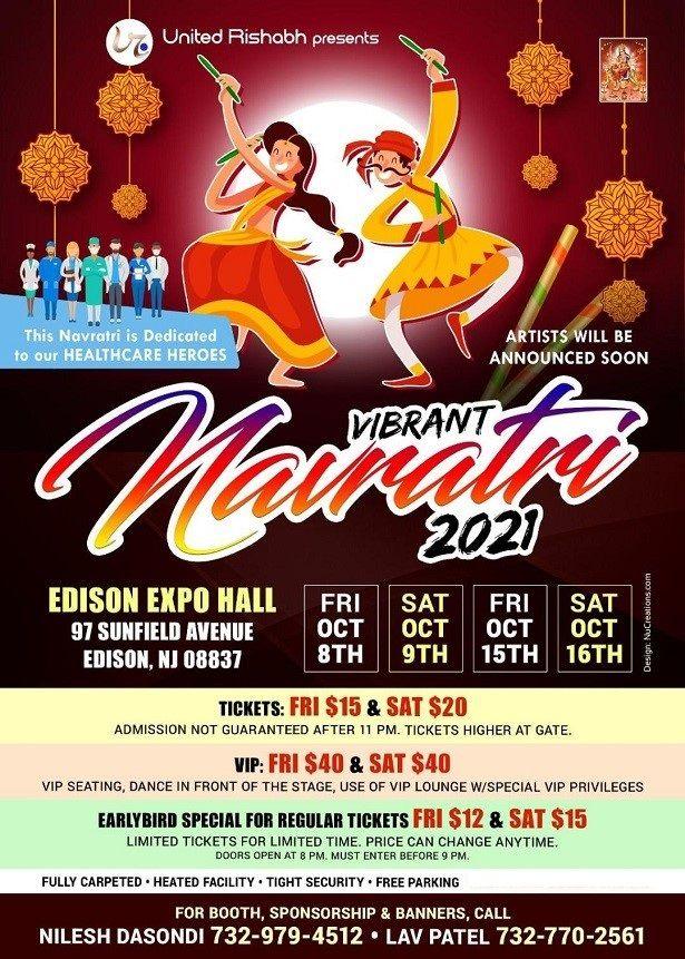 Navratri Garba & Raas - New Jersey Expo Center - Oct 8/9