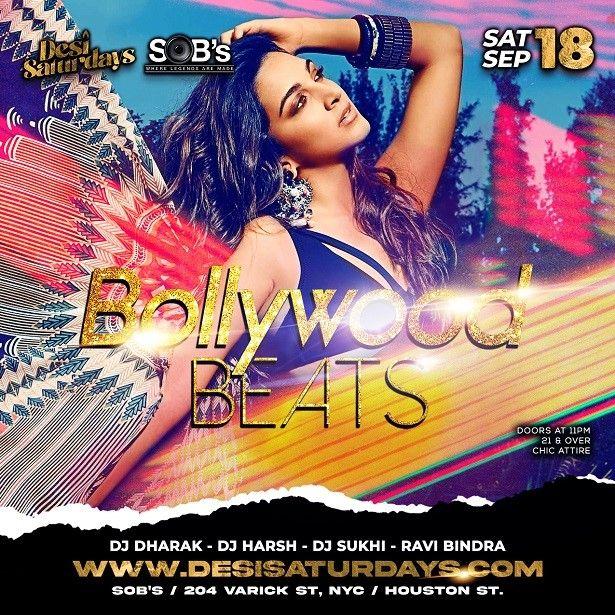 Bollywood Beats - Weekly Saturday Night DesiParty at SOB's NYC