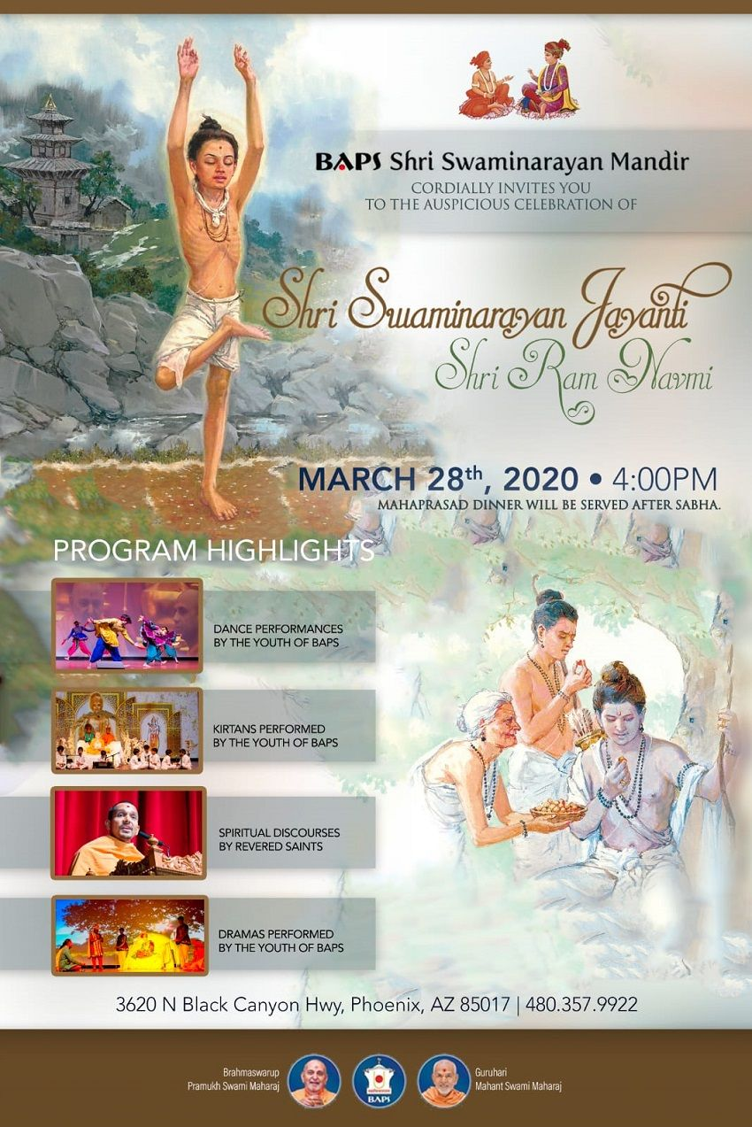 Shri Swaminarayan Jayanti & Shri Ram Navmi