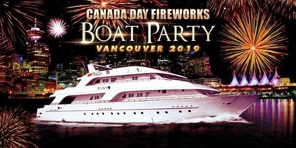 Canada Day Fireworks Boat Party Vancouver 2019