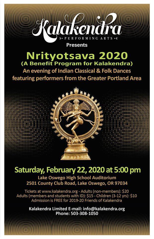 Nrityotsava 2020 - A Benefit Program for Kalakendra