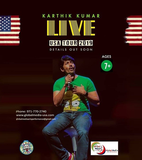Karthik Kumar Live stand up comedy show in Chicago