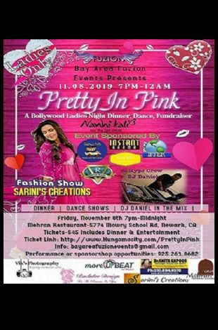 Pretty In Pink-Bollywood Ladies Night Dinner & Dance for Project Nanhi Kali