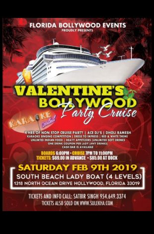 BOLLYWOOD VALENTINES PARTY CRUISE