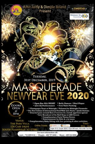 Masquerade New Year Eve 2020