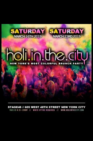 HOLI IN THE CITY - NYC's Biggest Festival of Colors Holi Party