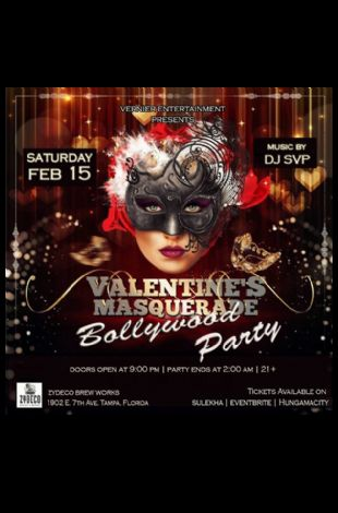 Bollywood Valentine's Masquerade Party