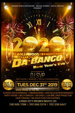 Bollywood DA'BANGG-New Year Eve