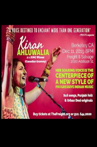 Indian Concert - Two time Canadian Grammy winner Kiran Ahluwalia