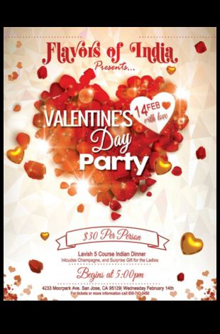 Flavors of India Presents Valentine's Day Party