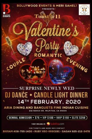 Valentines Day Dance Party at Aria