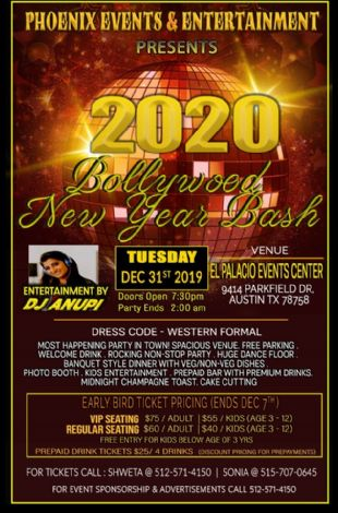 New Year Bollywood Bash 2020 - Phoenix Events & Entertainment