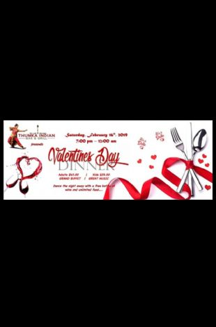Valentine's Day Dinner - Thumka Indian Bar & Grill
