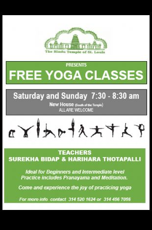 Yoga Classes - Every Saturday & Sunday