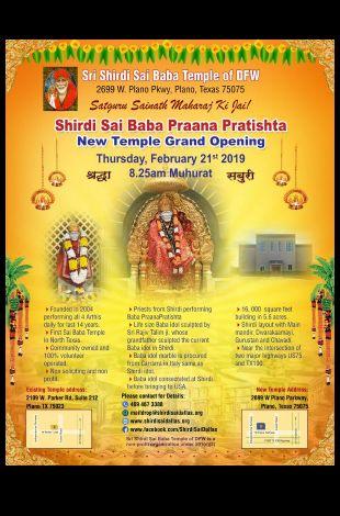 Shirdi Sai Baba Praana Pratishta - New Temple Grand Opening
