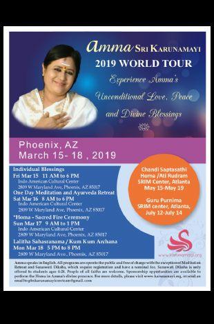Amma Sri Karunamayi 2019 WORLD TOUR