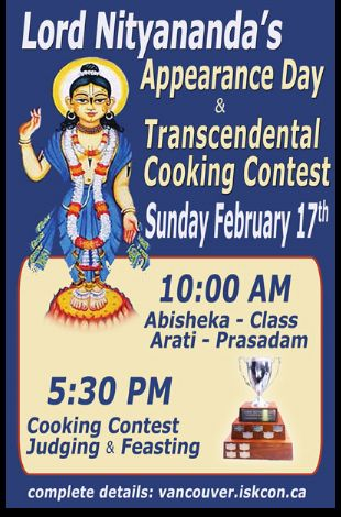 Lord Nityananda's Appearance Day With Annual Transcendental Cooking Competition