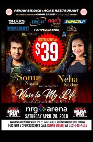 Houston: Sonu Nigam with Neha Kakkar Live in Concert