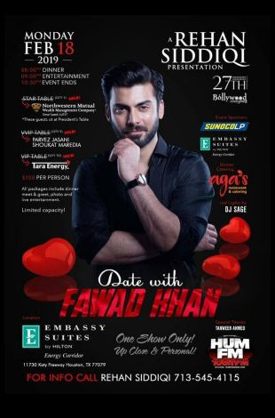 Date with Fawad Khan - Houston