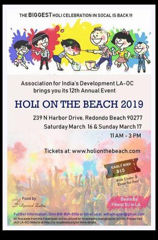 Holi on the Beach 2019 - Festival of Colors LA