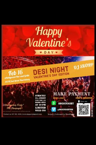 Desi Night Valentine's Day Edition Party