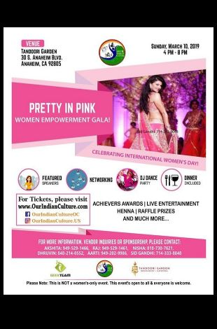 Pretty In Pink-Women Empowerment Gala, Celebrating Women's Day