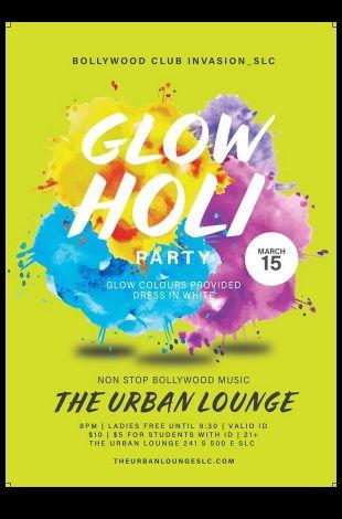 Glow Holi - Bollywood Style !